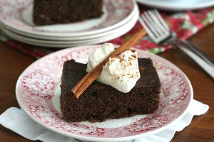 Christmas slow cooker ginger cake
