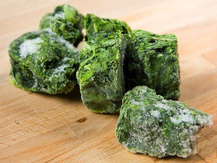 frozen spinach blocks