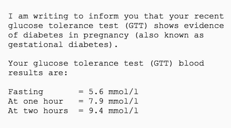 gestational diabetes diagnosis