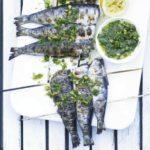 skewered sardines