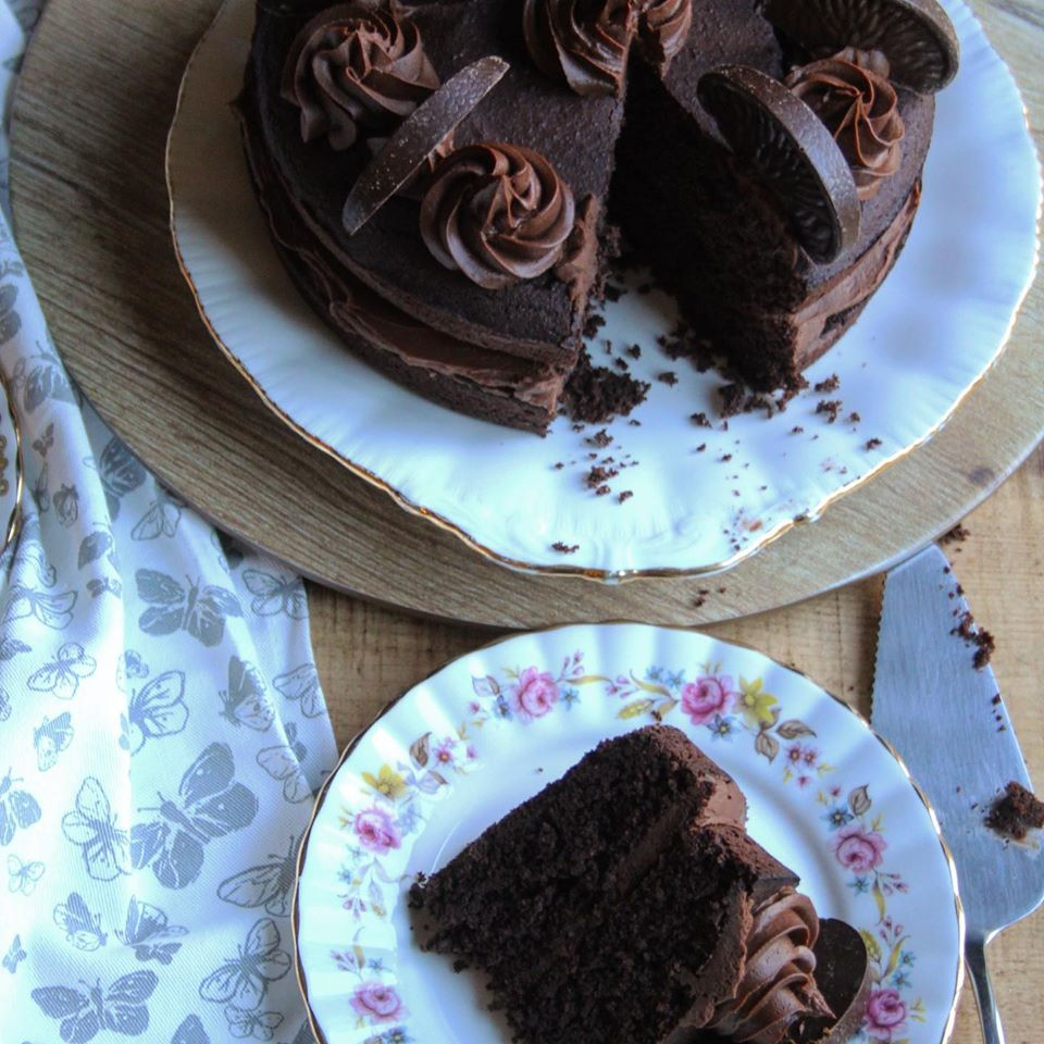 Basic Chocolate cake and slice