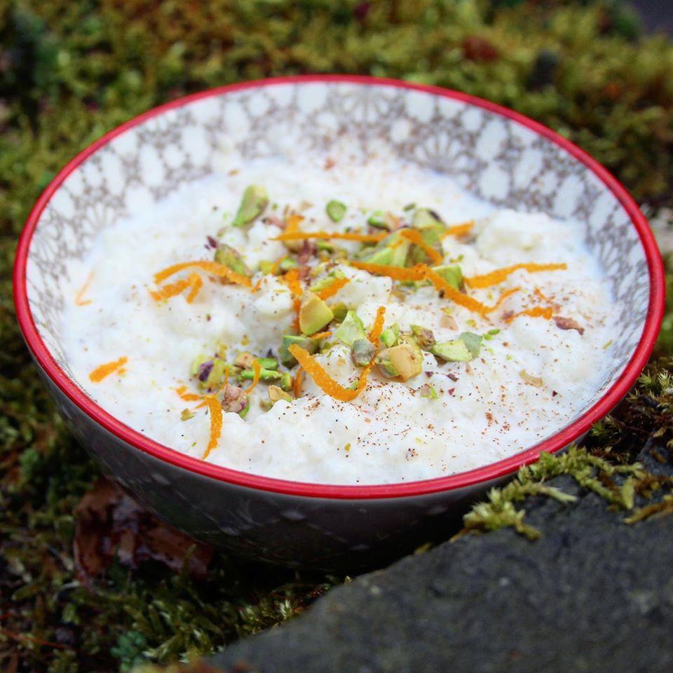Kheer creamy coconut basmati rice pudding