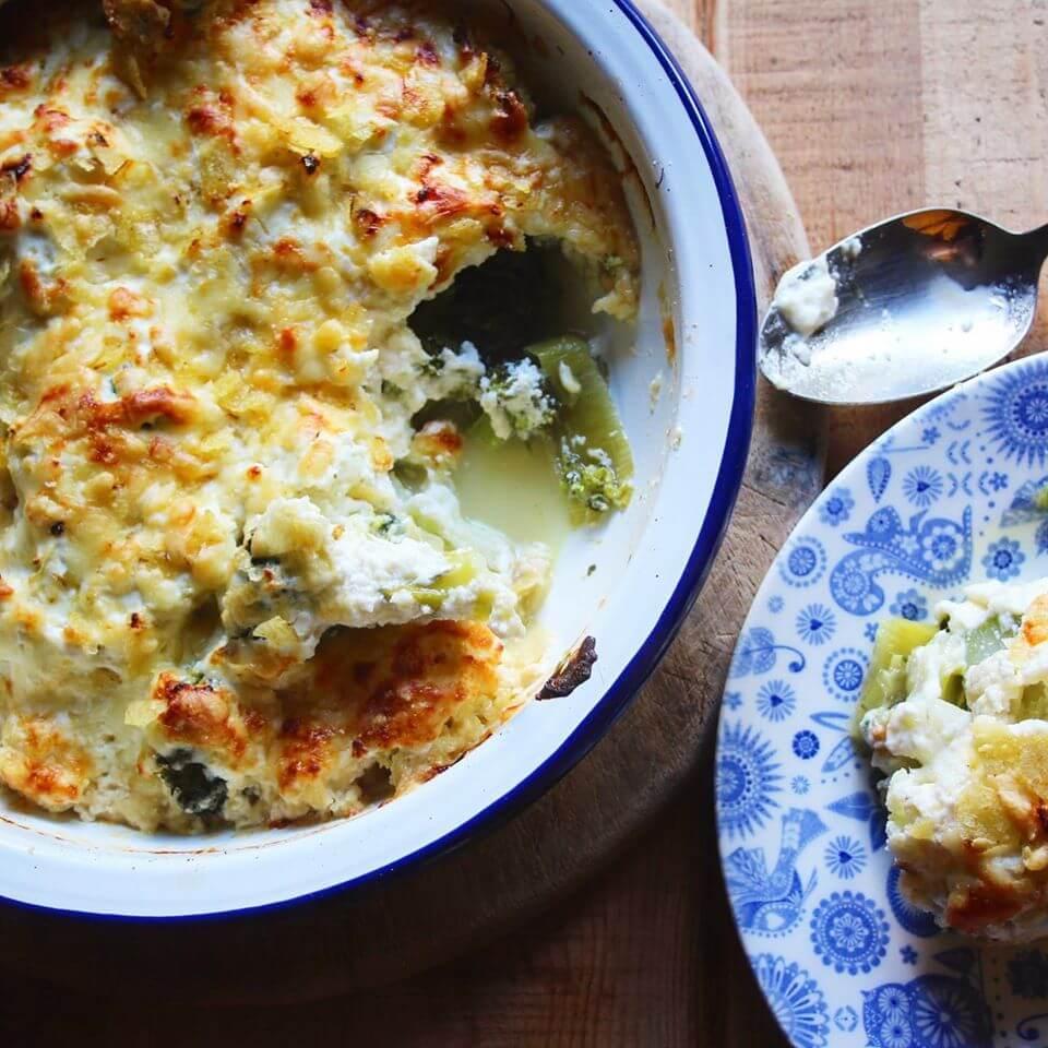 Veggie Cheese Bake with ricotta