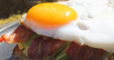 avocado egg bacon toast