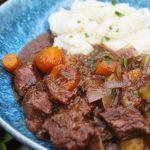 slow cooker beef stew with cauliflower mash