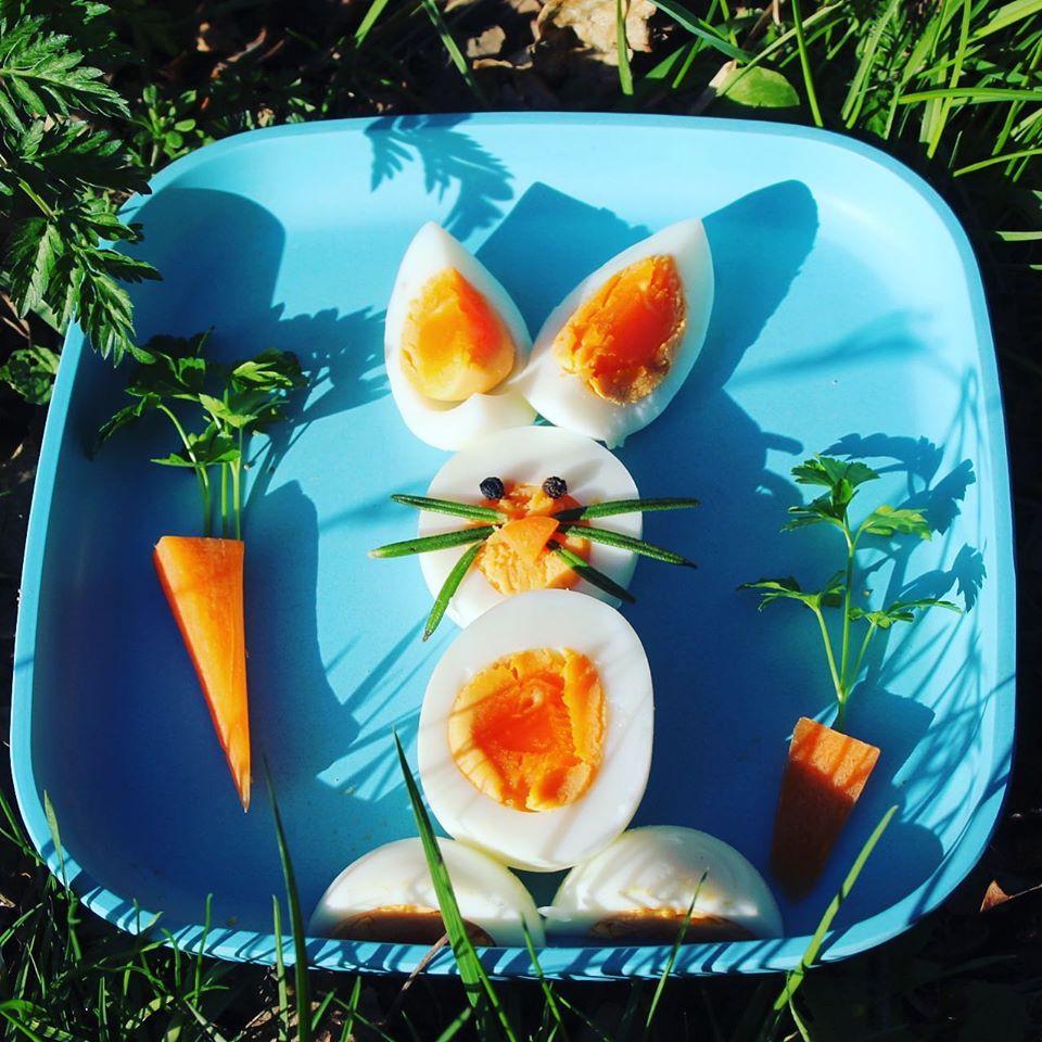 boiled egg Easter bunny