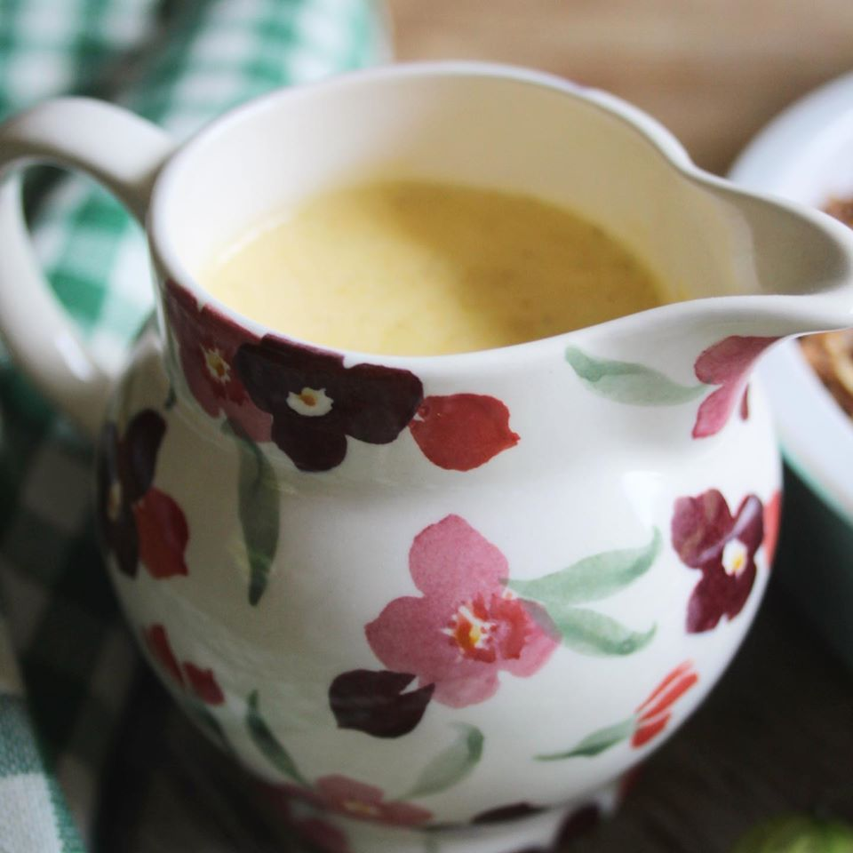 Real Custard with no added sugar in a jug