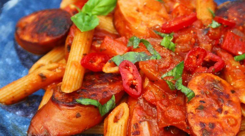 Smoked Sausage Arrabiata Penne Pasta