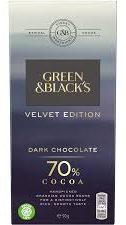 green & blacks velvet