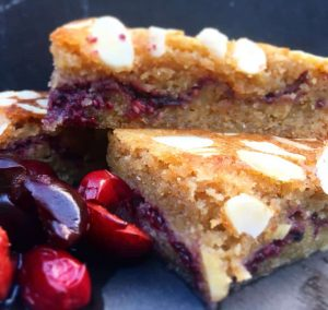 low carb bakewell slices