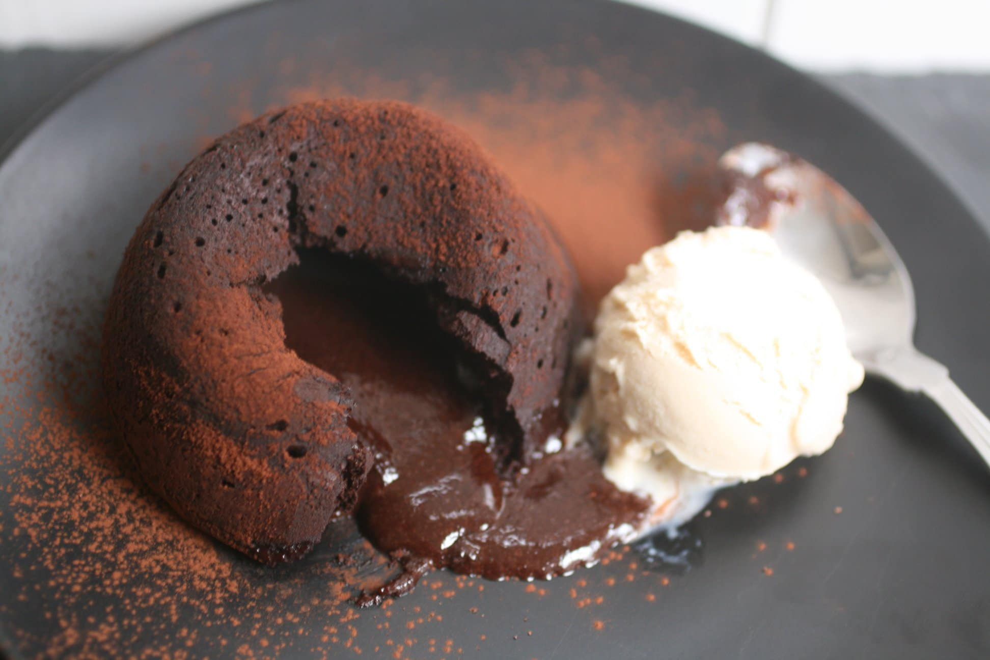 low carb chocolate lava cakes