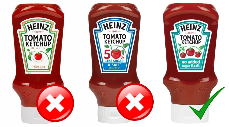 Heinz tomato ketchups compared