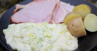 Ham & Leeks in Creamy Cheese Sauce