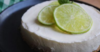 Ginger and Lime Cheesecake