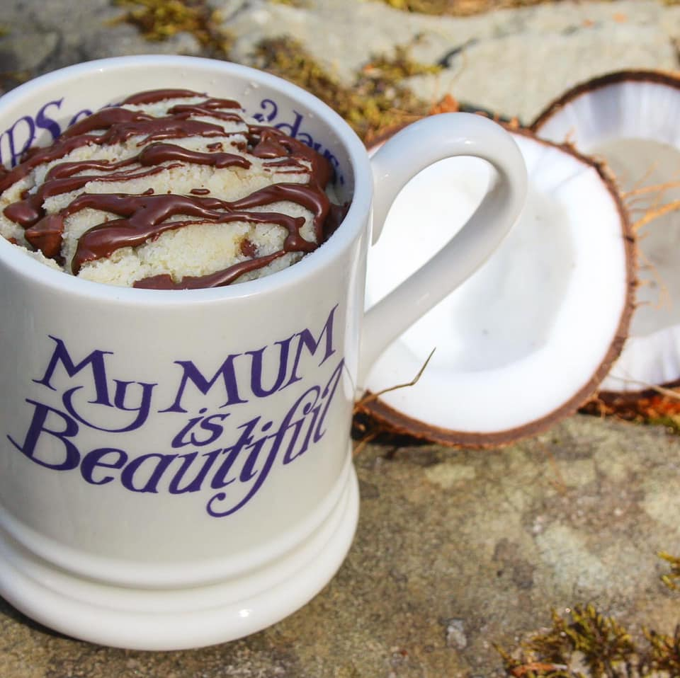 low carb bounty mug cake