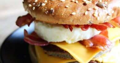 low carb Double Sausage bacon and egg bagel McMuffin McDonald's