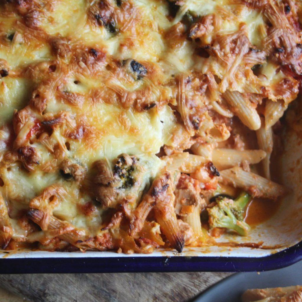 tuna pasta bake spoonful missing