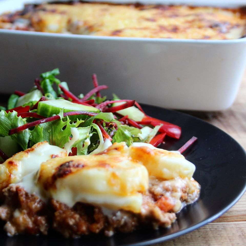mince and potato bake