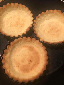 tart crusts baked