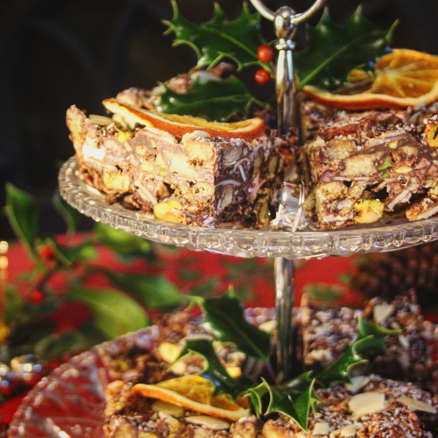 Christmas Rocky Road Slices