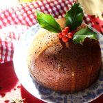 Christmas steamed ginger pudding