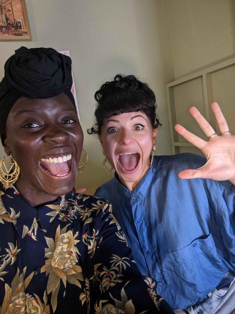 Anna-Maria Nabirye & Jess Mabel Jones, two multidisciplinary artists who work in a collaboration called Motherhoody