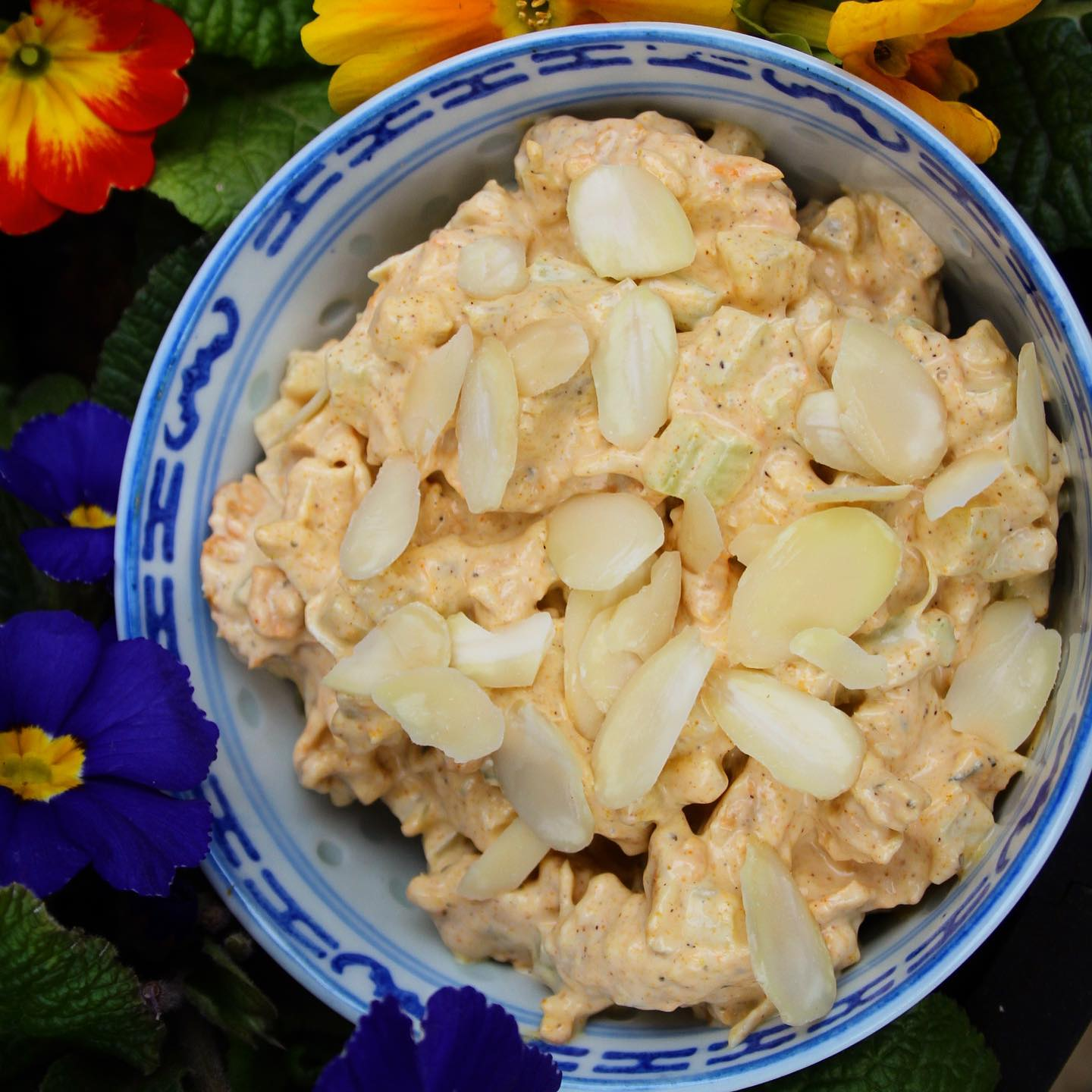 low carb Coronation chicken