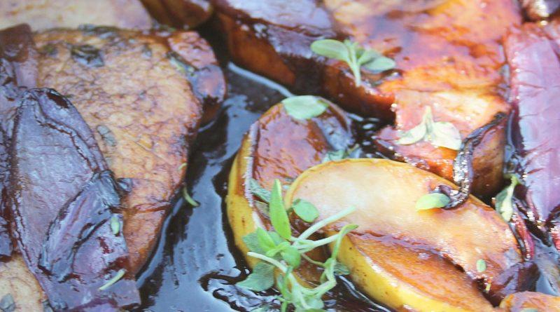 Balsamic-Glazed Pork with Apple