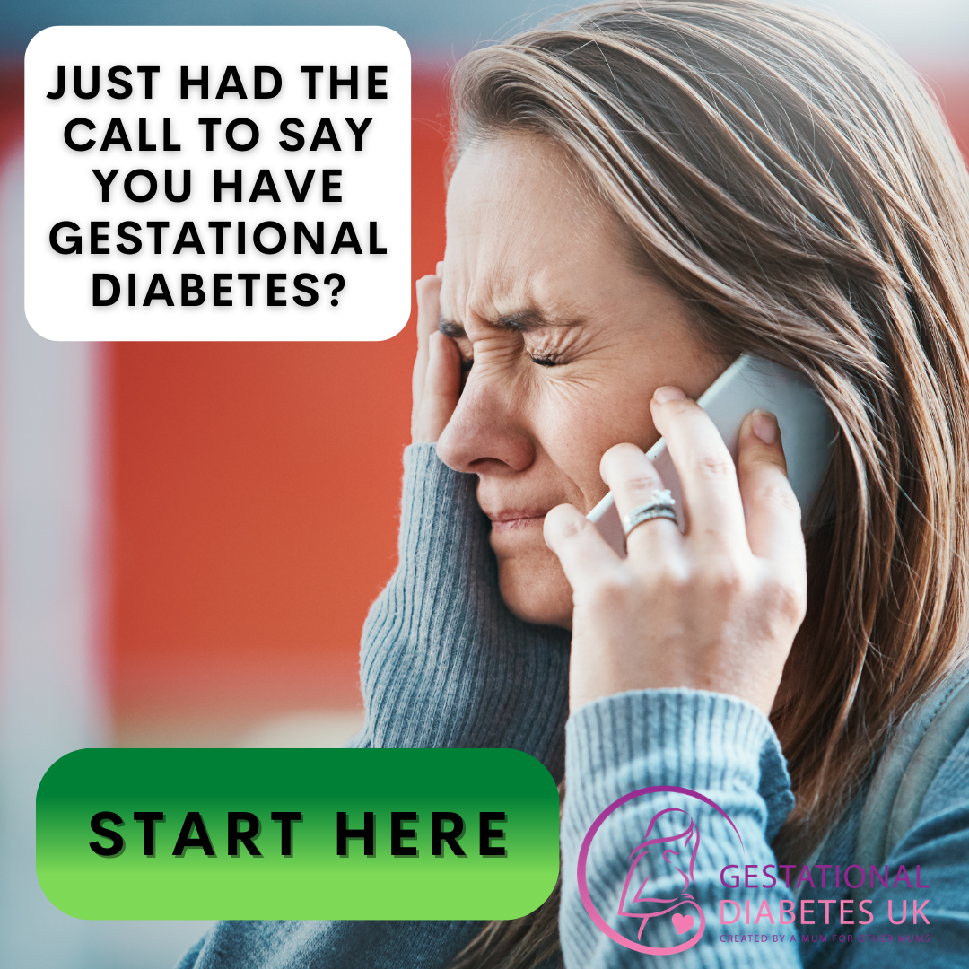 call to say you have just been diagnosed with gestational diabetes