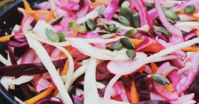 Pink Pickled Slaw