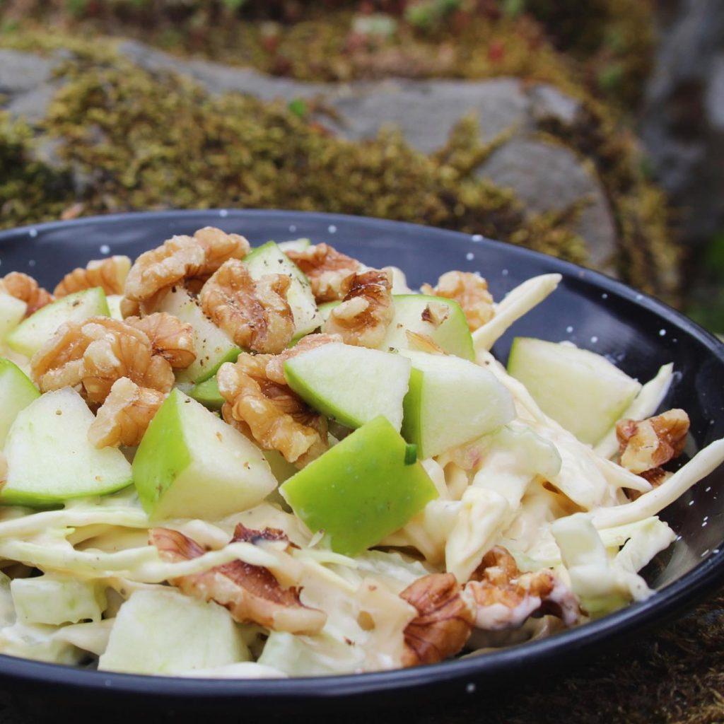 Waldorf Salad celery apple and walnut salad
