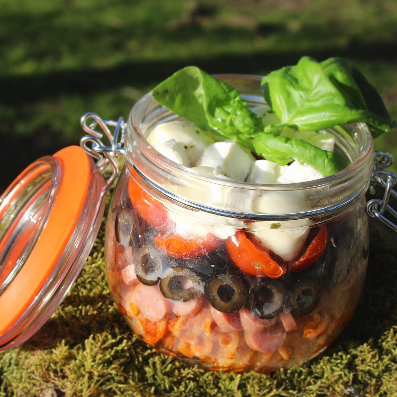 Pizza Pasta Salad Jar
