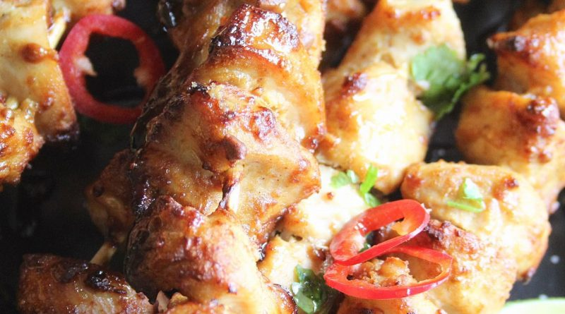 low carb chicken satay